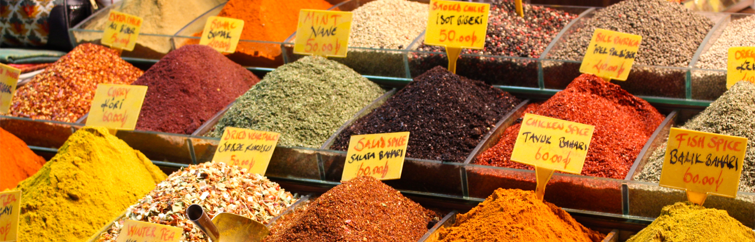 Stack of Spices in Spice Bazaar, Istanbul