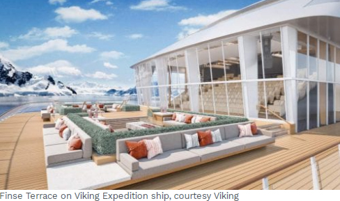 Rinse Terrace on Viking Expeditions Ship